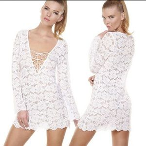 Beach Bunny Marilyn Lace Tunic Cover Up. Small